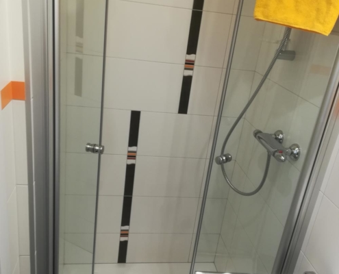 Dusche zimmer seehaus schirg