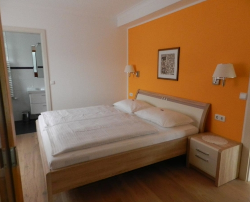 Ferienwohnung Schlafzimmer Seehaus Schirg